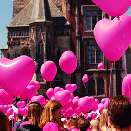 hearts balloons people fiesta love old town city local travel real social UGC photography