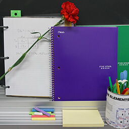 binders flower studying desk home notes five star branded UGC content