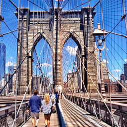 brooklyn bridge ny new york people day architecture street photography travel UGC content